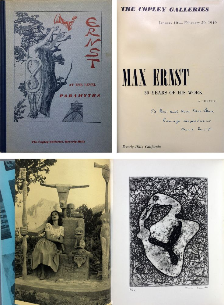 Aguafuerte Ernst - The Copley Galleries. At Eye Level. Paramyths. Max Ernst, 30 years of his work.