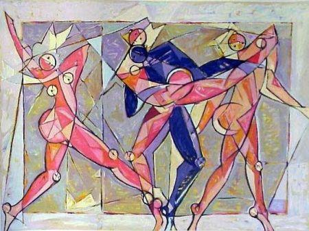 Litografía Kahn - The Dance