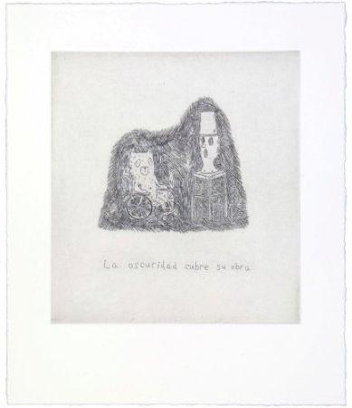 Grabado Kaga - The darkness covers his work