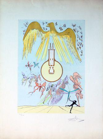Aguafuerte Dali - The Electric Light Bulb
