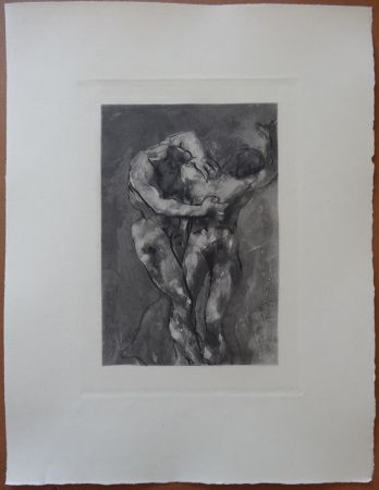 Aguafuerte Rodin - The Fight