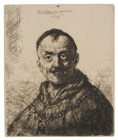 Grabado Rembrandt - The First Oriental Head