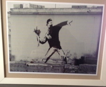 Fotografía Banksy - The flower thrower from Jerusalem