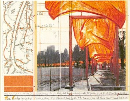 Litografía Christo - The Gates (I)