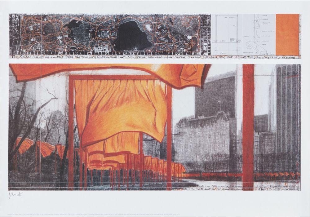 Litografía Christo - The Gates (p)