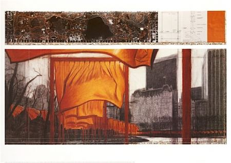Litografía Christo - The Gates (Viii)