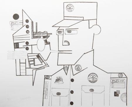 Litografía Steinberg - The General from the Peace Portfolio