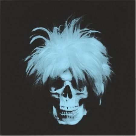 Serigrafía English - The ghost of Andy Warhol - Blue on black