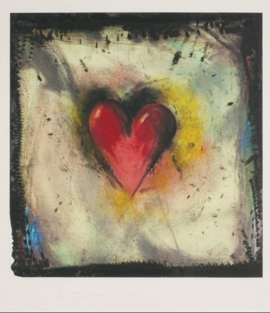 Aguafuerte Y Aguatinta Dine - The Hand-Colored Viennese Heart IV