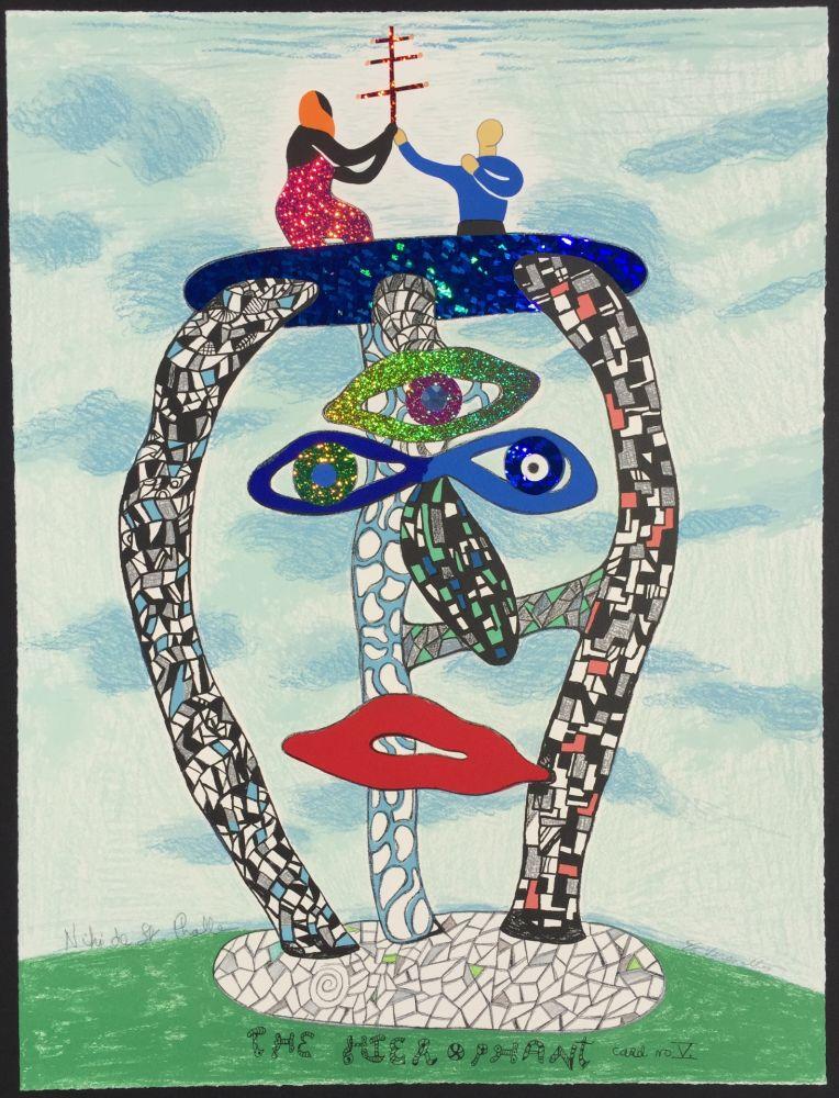 Litografía De Saint Phalle - The Hierophant