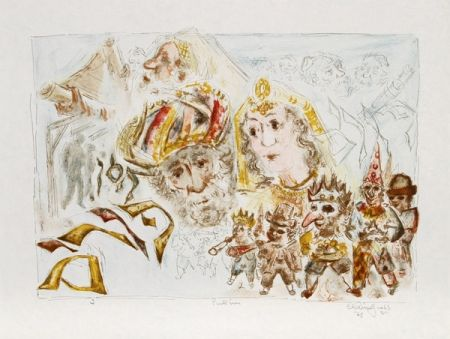 Litografía Gross - The Jewish Holidays. A Suite of Eleven Original Lithographs by Chaim Gross
