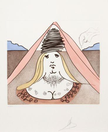 Grabado Dali - The Lady Dulcinea from Historia de Don Quichotte de la Mancha
