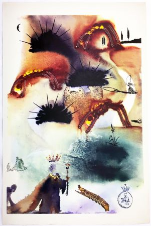 Heliograbado Dali - THE LOBSTER QUADRILLE  (From Alice in Wonderland. New-Yok 1969).