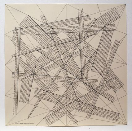 Grabado Lewitt - The Location of Lines. Lines from Points to Points.