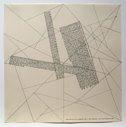 Grabado Lewitt - The Location of Lines. The Location of a Straight Line. A not Straight Line and a Broken Line.