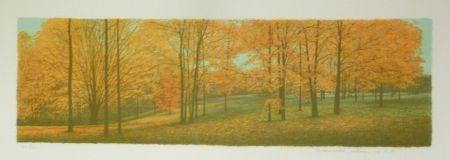 Litografía Rodrigo - The Memory remains among the Indiana Woods