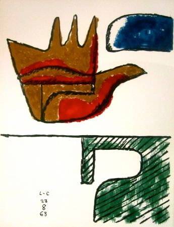 Litografía Le Corbusier - The Open Hand