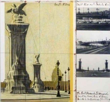 Litografía Christo - The Port Alexandre Iii