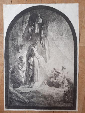 Grabado Rembrandt - The Raising of Lazarus