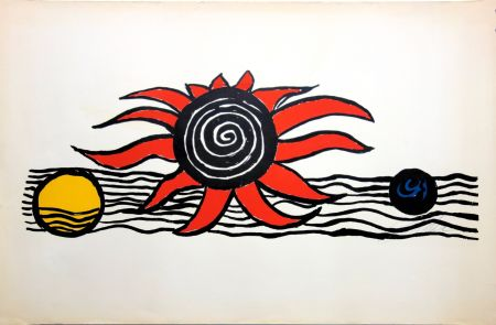Litografía Calder - The red sun