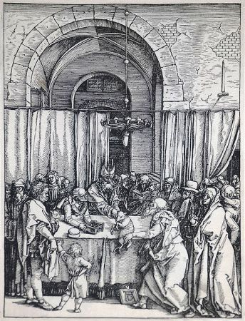 Grabado En Madera Durer - The Rejection of Joachim's Offering (The Life of the Virgin), c. 1504