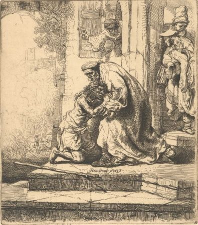 Grabado Rembrandt - The Return Of The Prodigal Son