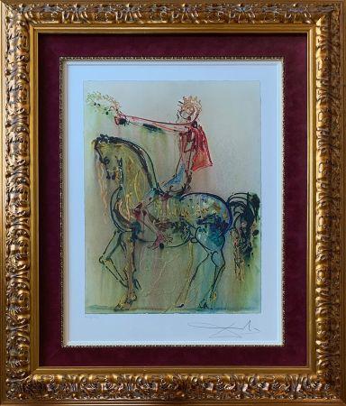 Litografía Dali - The Roman Cavalier (Le Chevalier Roman)