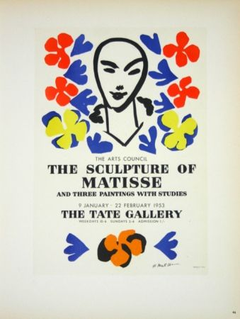 Litografía Matisse - The Sculpture of Matisse  Tate Galerie 1953