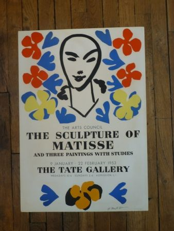 Cartel Matisse - The sculpture of Matisse,Tate Gallery