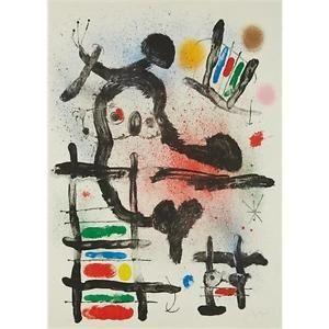 Litografía Miró - The Slingshot Bird