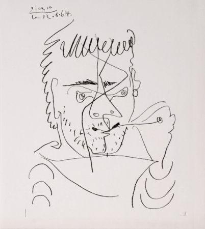 Litografía Picasso - The Smoker, Daniel Henri Kahnweiler
