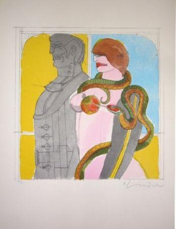 Litografía Lindner - The Snake