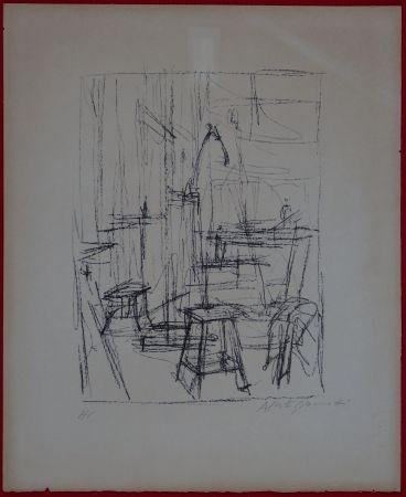 Litografía Giacometti - The Studio with Head of Horse (II)