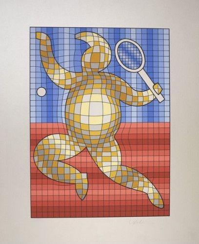 Múltiple Vasarely - The Tennis Player
