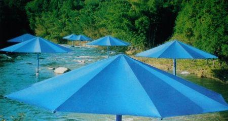 Múltiple Christo - The Umbrellas, Japan-USA, 1984-91, Ibaraki, Japan Site.