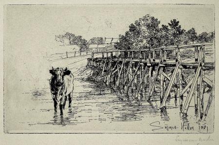 Aguafuerte Haden - The Village Ford