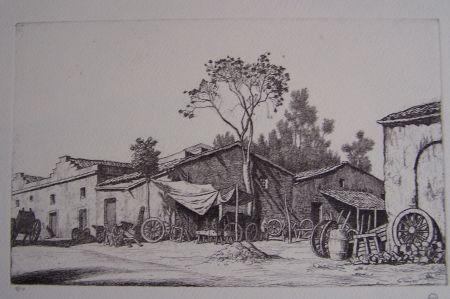 Grabado Strang - The Wheelwright's Shop