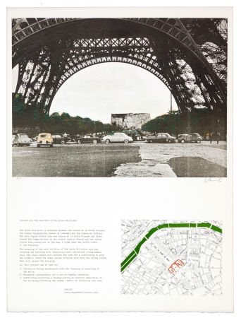 Litografía Christo - The wrapping of the Ecole militaire