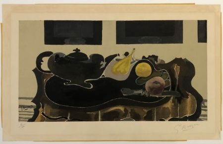 Colografía Braque - Theiere et Fruits