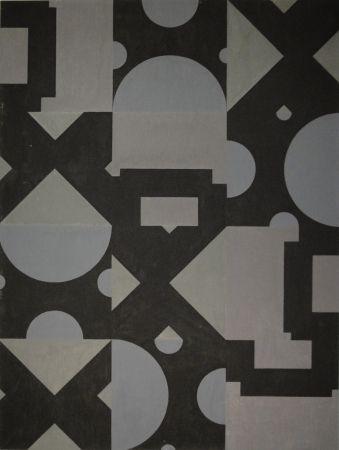Monotipo Bosshard - Thema Kreis, Quadrat, Dreieck in Schwarz und Grau