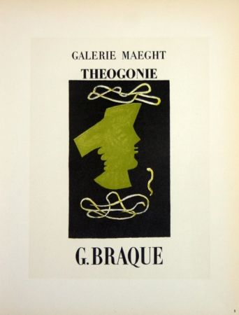 Litografía Braque - Theogonie  Galerie Maeght