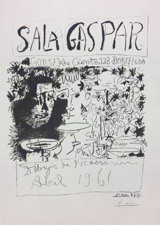 Litografía Picasso - Three Drinkers