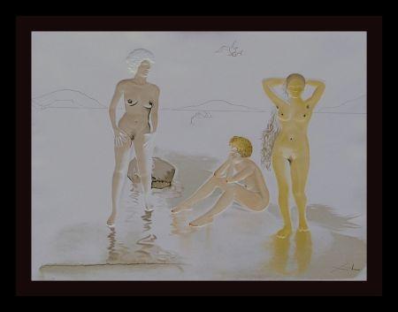 Grabado Dali - Three Graces of Cova d'Or