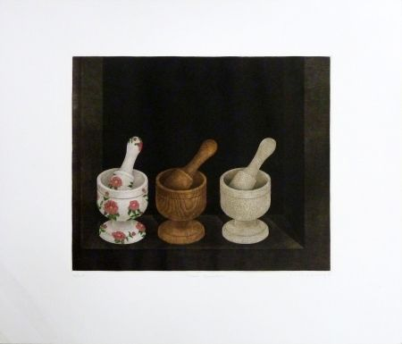 Grabado Hwang - Three Grinders