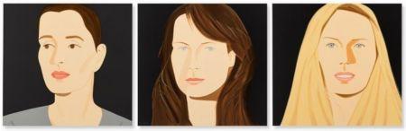 Litografía Katz - Three Portraits (Sarah, Vivien, Sophia)
