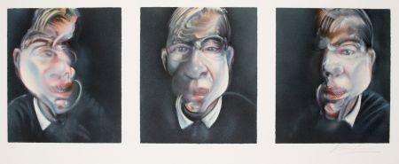 Litografía Bacon - Three studies for a Self-portrait, 1981