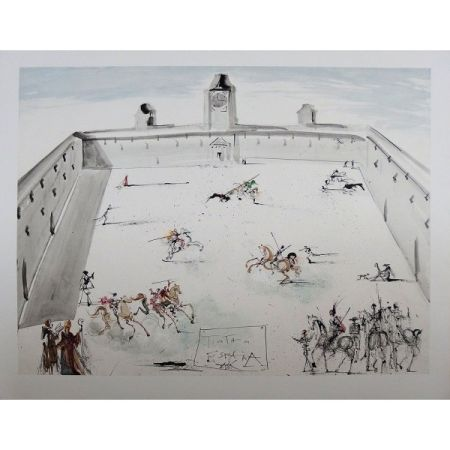 Litografía Dali - Tienta en espana