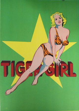 Litografía Ramos - Tiger Girl