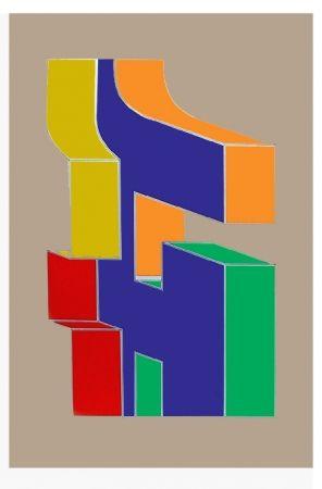 Serigrafía Chryssa - Times Square Fragment #10