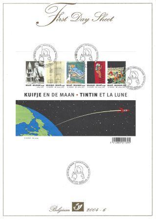 Talla En Madera Rémi - Tintin et la Lune - First Day Sheets